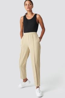 Elastic Waist Seamline Pants - Elastic Waist Seamline Pants 34