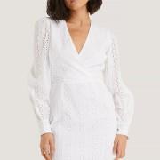 V-neck crochet dress