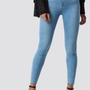 Skinny High Waist Raw Hem Jeans