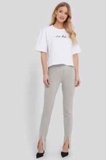 Front Slits Jersey Pants grå - Pants grå S