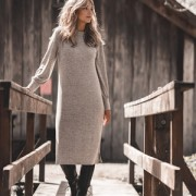 JACKIE DRESS SANDSTONE MELANGE