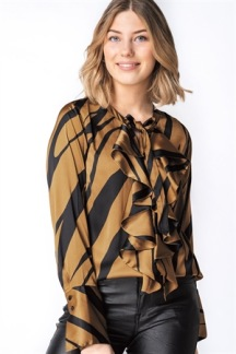 EMPIRE BLOUSE BRASS/BLACK - EMPIRE BLOUSE BRASS S