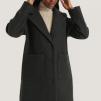 Wool Blend Dropped Shoulder Coat - Wool Blend Dropped  40