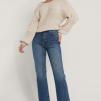 Ekologiska Raka Jeans Med Hög Midja Och Rå Fåll - Raka Jeans 42