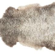 Sanda svenskt fårskinn 1 skinn 100x60cm Ljus