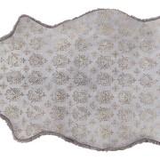 Lisbeth printat fårskinn 1 skinn 100x60cm Loak/carbon