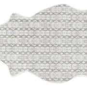 Lisbeth printat fårskinn 1 skinn 100x60cm Viper/vit