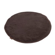 Sally - stolsdyna mocka 38cm rund / brun