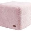 Emma fårskinnspuff fyrkantig 50x40cm - Rosa