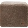 Emma fårskinnspuff fyrkantig 50x40cm - Stone