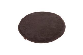 Sally - stolsdyna mocka 38cm rund / brun - Mocka