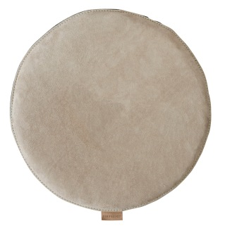 Sindra stolsdyna vadderad 38cm rund - Stone