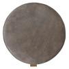 Sindra stolsdyna vadderad 38cm rund - Asphalt