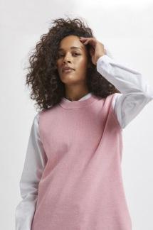 KAmiara Knit Vest rosa / blå - rosa S