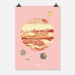 Jupiter färg på rosa