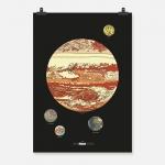 Jupiter färg på svart