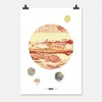Jupiter färg på vit