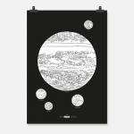 Jupiter vit på svart