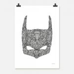 Batman svart på vit