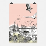 Fågelfjäll rosa