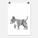 Hund Bullterrier