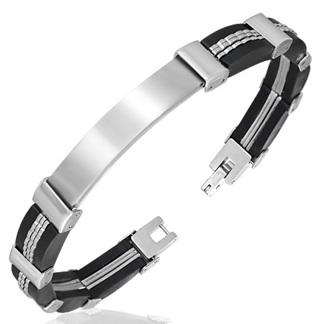 Armband 22 cm*9 mm Rostfritt Stål ARF3113