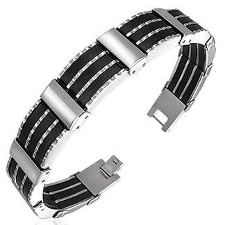 Armband 21 cm*12 mm Rostfritt Stål ARF3109