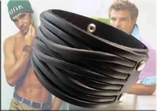 Armband Läder AL4111 - Armband Läder Svart