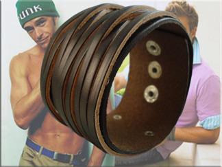 Armband Läder AL4111 - Armband Läder Brun