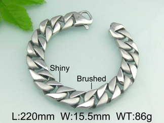 Armband 22 cm*15,5 mm Rostfritt Stål ARF3144