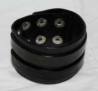 Armband Läder AL4103 - Armband Läder Svart
