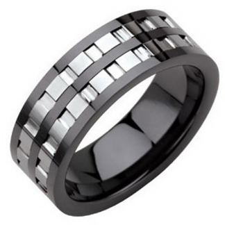 Ring Tungsten och Keramik RTS1109 - Ring Tungsten/Keramik US size 8
