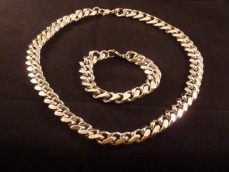Set Armband + Halsband Rostfritt Stål SRF3101