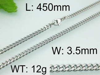 Halsband 45-50-55-60 cm*3,5 mm Rostfritt Stål HRF3104