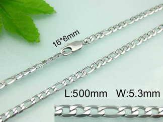 Halsband 45-50 cm*5,3 mm Rostfritt Stål HRF3111