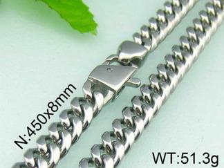Halsband  Rostfritt Stål 45, 50, 60, 65 cm * 8 mm HRF3126