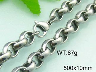 Halsband  Rostfritt Stål 50, 52, 60 cm * 10 mm HRF3125