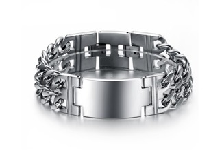 Armband 18,5/20,5 cm*22,5 mm Rostfritt Stål ARF3171