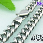 Halsband  Rostfritt Stål 50, 55, 60 cm * 9 mm HRF3127