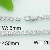 Halsband 45-50-55 cm*6 mm Rostfritt Stål HRF3106