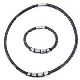 Set Armband + Halsband Läder SL4103