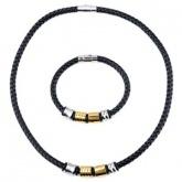 Set Armband + Halsband Läder SL4101