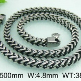 Halsband 50 cm*4,8 mm Rostfritt Stål HRF3112