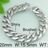 Armband 22 cm*15,5 mm Rostfritt Stål ARF3145