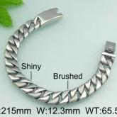 Armband 21,5 cm*12,3 mm Rostfritt Stål ARF3143