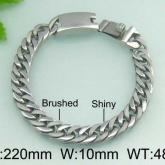 Armband 22 cm*10 mm Rostfritt Stål ARF3141