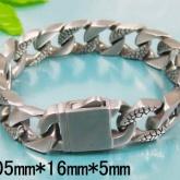 Armband 20,5 cm*16 mm Rostfritt Stål ARF3134