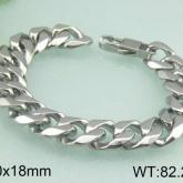 Armband 22 cm*18 mm Rostfritt Stål ARF3148