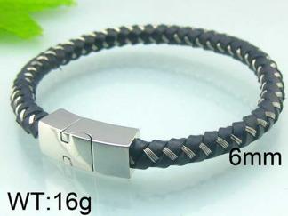 Armband 20,5 cm*6 mm Läder AL4180