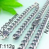 Set Armband + Halsband Rostfritt Stål SRF3115